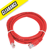 Patch Lead Red 2.0m Pack of 10