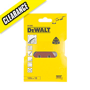 DeWalt 93 x 93mm 120 Grit Detail Sanding Sheets Pack of 10