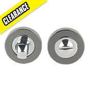 Jedo Thumbturn & Release Polished Chrome / Black Nickel 50mm