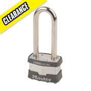 Master Lock Laminated Padlock with Long Shackle 44mm