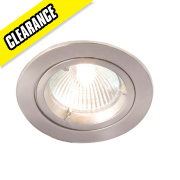 Robus Fixed Round Mains Voltage Downlight Brushed Chrome 240V Pk10