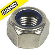 Nylon Lock Nuts A2 Stainless Steel M20 Pack of 10