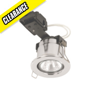 Linolite Sylvania Adjustable Round LV Fire Rated Downlight Polished Chrome 12V