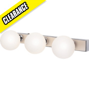 Master Remius 3-Light Bathroom Wall Light Chrome G9 18W