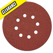 Titan Sanding Disc D-Weight 150mm 8-Hole Punched Hook & Loop 80 Grit Pk10