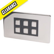 3-Gang 1-Way Dimmer Switch Chrome 210W