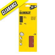 DeWalt 115 x 228mm 80 Grit ½ Sanding Sheets Pack of 10