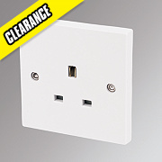 Marbo 13A 1-Gang Unswitched Plug Socket White