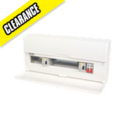 16-Way High Integrity Plastic Consumer Unit Dual 63A RCD & 100A Switch