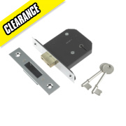 Century 5-Lever Mortice Deadlock Chrome Plated 2.5