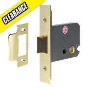 Eclipse Mortice Flat Latch Polished Brass 76mm