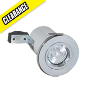 Robus Fixed Round Mains Voltage Fire Rated Downlight Polished Chrome 240V