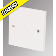 Marbo 25A Flex Outlet Plate White
