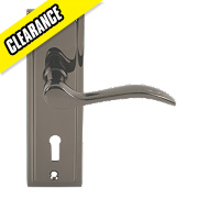 Bordeaux Lever Lock Pair Black Nickel