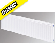 Flomasta Type 11 Single Panel Single Convector Radiator White 300 x 1600mm