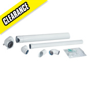 Baxi Solo Plume Displacement Kit inc. Elbow & Clips