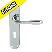 Eclipse 710 Series Short Backplate Door Handle Latch Pair Polished Chrome