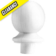 Richard Burbidge Ball Cap White Primed 85 x 85 x 106mm