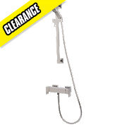 Moretti Quadrata Exposed Thermostatic Bar Mixer Shower