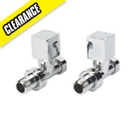 Milano Cube Straight Radiator Valves Pair