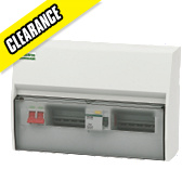 Crabtree 10-Way Fully Insulated Split Load Consumer Unit 30mA RCD