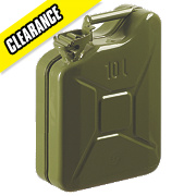 Steel Jerry Can Olive Green 10Ltr