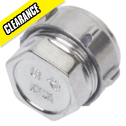 Conex Chrome Compression Stop End 22mm