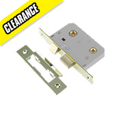 Century Bathroom Mortice Lock Polished brass 22 x 76mm