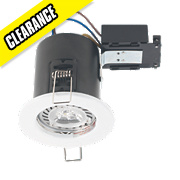Robus Round Fire Rated Fixed Mains Voltage LED Downlight White 240V