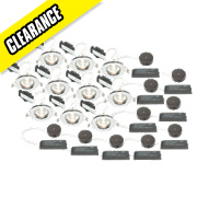 LAP Fixed Low Voltage Downlight Contractor Pack Polished Chrome 12V Pk10