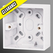 Volex 1-Gang 42mm Surface Mounted Moulded Box