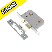 Century Bathroom Mortice Lock Polished chrome 22 x 76mm