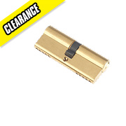 Century 5-Pin Euro Double Cylinder Lock 40-40 (80mm) Brass
