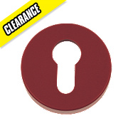 Euro Profile Escutcheon Ruby Red