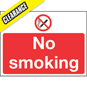 """No Smoking"" Sign 450 x 600mm"