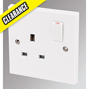 Marbo 13A 1-Gang DP Switched Plug Socket White