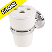 Moretti Henley Classic Bathroom Toothbrush Tumbler & Holder Chrome-Plated