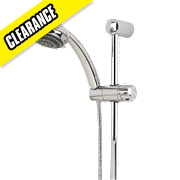 Swirl Thermostatic Mixer Shower Riser Rail Flexible Exposed Chrome