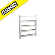 Kudox Belinda Designer Towel Radiator Chrome 750 x 600mm 194W 662Btu