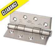 Eurospec Ball Bearing Hinge Satin Stainless Steel 102 x 76mm