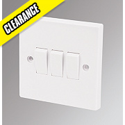 Marbo 3-Gang 2-Way 10AX Light Switch White