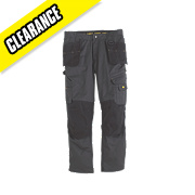DEWALT LOW RISE TROUSERS GREY BLK 30W 33L
