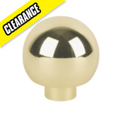 Ball Top Knob Polished Brass 32mm Pack of 2