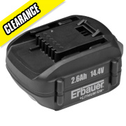 Erbauer ERH425BAT 14.4V 2.6Ah Li-Ion Battery Pack
