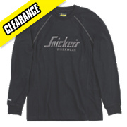 SNICKERS LONG SLEEVE LOGO T SHIRT BLACK L