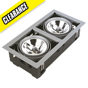 Halolite Double Halogen Recessed Multiple Adjustable W
