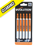Evolution Multipurpose Jigsaw Blades Pack of 5