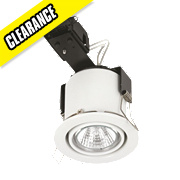 Linolite Sylvania Adjustable Round Low Volt. Fire Rated Downlight White 12V