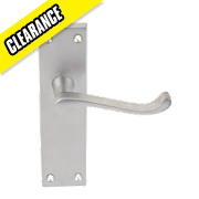 Long Back Scroll Mortice Knob Pack Satin Chrome