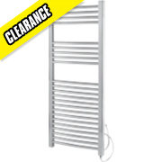 Kudox Pre-Filled Flat Towel Radiator Chrome 1100 x 500mm 250W 853Btu